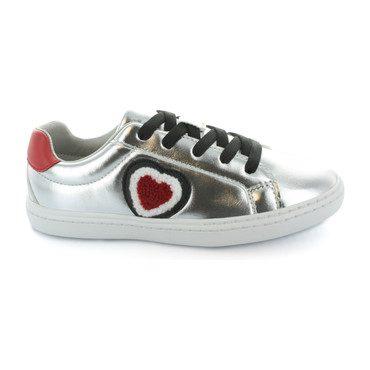 Mya Love, Heart Lace Sneaker, Silver