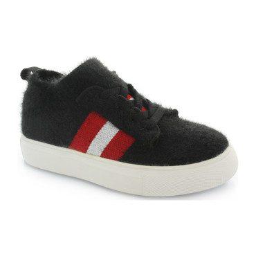 Kai Stripe Knit Sneaker, Black