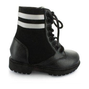 Dara's Lace Combat Boot, Black