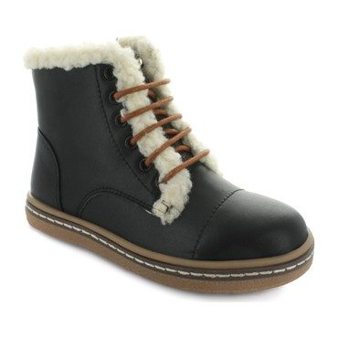 Aubrey's Fur Lace Boot, Black