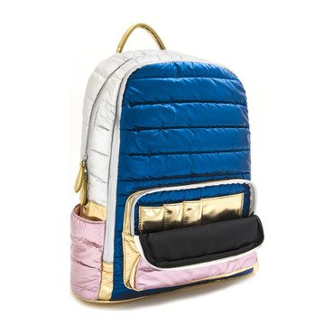 Puffy Backpack, Navy Mix
