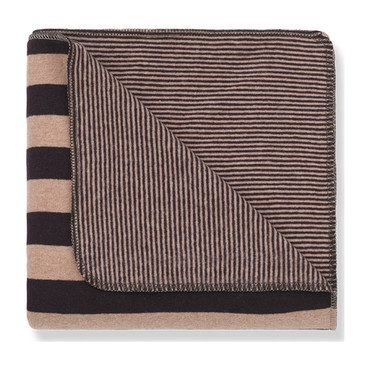 Innsbruck Blanket , Rose Burgundy Stripe