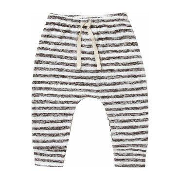 Dane Striped Pant, Black/Ivory