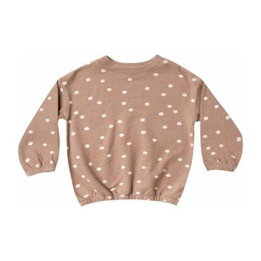 Dot Sweater, Truffle/Wheat