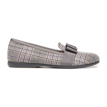 Grosgrain Bow Loafers, Plaid