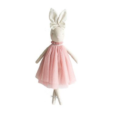 Daisy Bunny in Pink Sparkle Dress