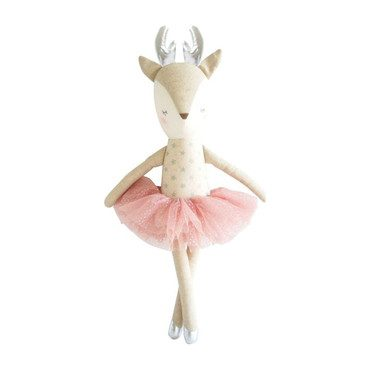 Reindeer in Silver Stars with Blush Tutu