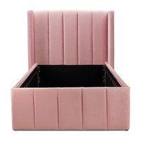 Sybilla Velvet Bed, Pink