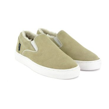 Slip-on with Fur Lining, Natural Suede