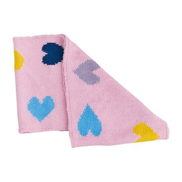 Heart Scarf, Pink