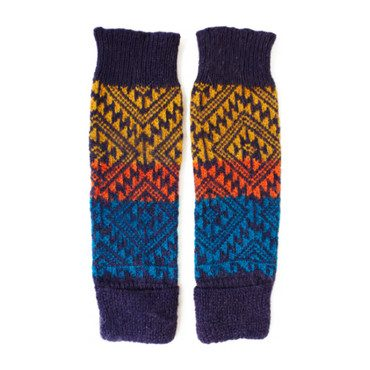 Leg/Arm Warmers, Purp/Turq/Org Aztec