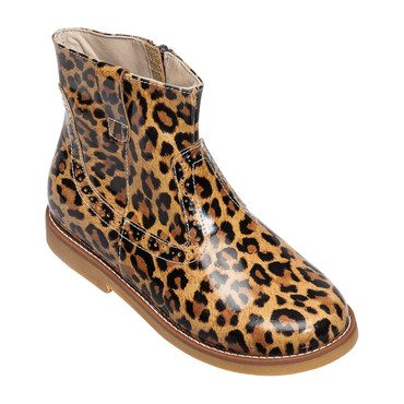 Madison Ankle Boot, Leopard Patent