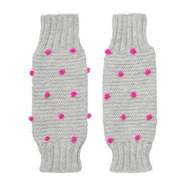 Leg/Arm Warmers, Grey/Pink Dot