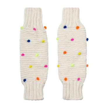 Leg/Arm Warmers, Ivory/Neon Dot