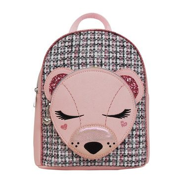 Classy Bear Critter Mini Backpack, Pink