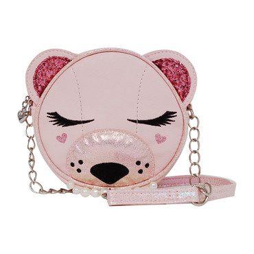 Classy Bear Canteen Crossbody, Pink