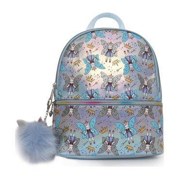Fairy Unicorn Printed Mini Backpack, Blue