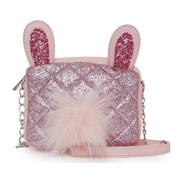 Glitter Bunny Crossbody, Pink