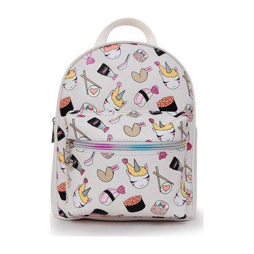 Sushi Unicorn Printed Mini Backpack, White