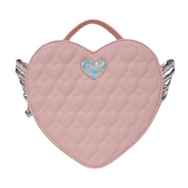 Winged Heart Quilted Mini Backpack, Pink