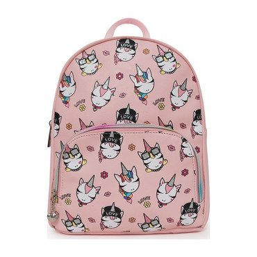 Sparkle Unicorn Printed Mini Backpack, Pink