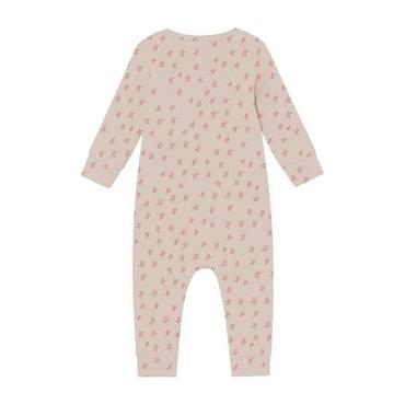 Baby Jumpsuit With All-Over Stars Print, Pink