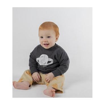 Baby Sweatshirt With Mercury Print, Grey