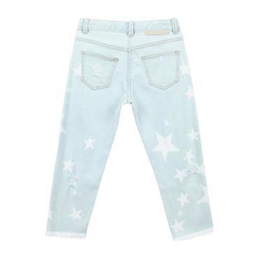 Child Pants With White Stars Denim, Blue