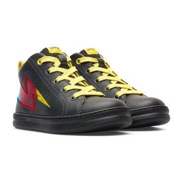 Runner Lightning Bolt Sneaker, Black