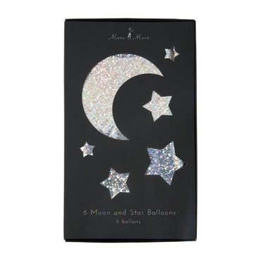 Moon & Stars Foil Balloons