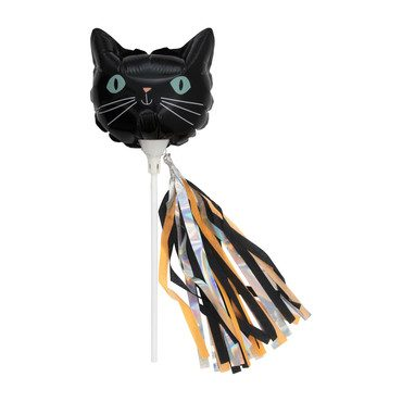 Mini Halloween Cat Balloon Wands