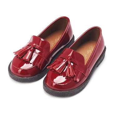 Vita Tassel Loafers, Burgundy