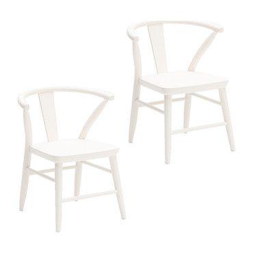 Crescent Chair - Pair, White