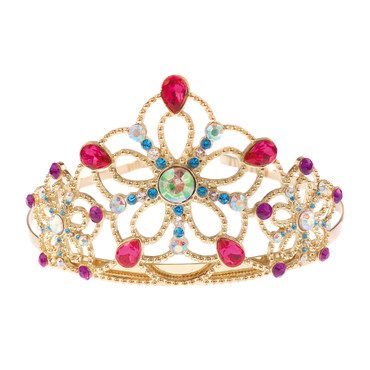 Bejewelled Tiara, Gold Metal with Gems