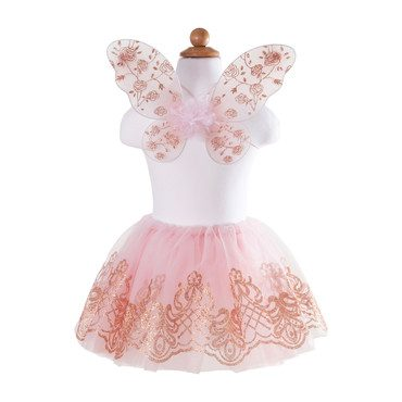 Rose Gold Wings & Tutu Set
