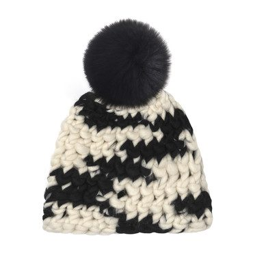 Beanie Pomster, Cow Print