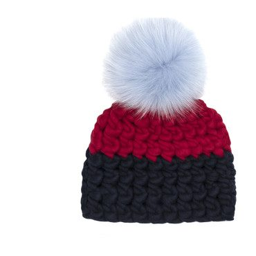 Color Block Hat, Red & Navy