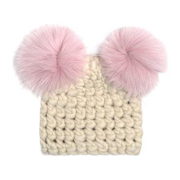 Mickey Pom Hat, White & Pink