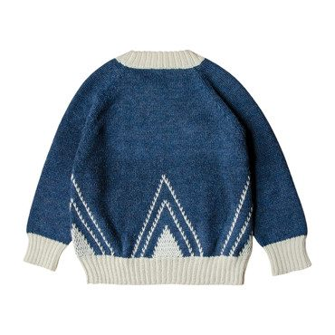 Knitted Alpaca Sweater, Moonlight Blue