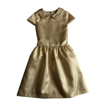 Anna Peter Pan Collar Dress, Gold