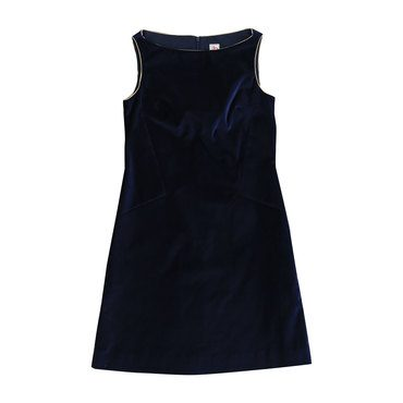 Ophelia Velvet Shift Dress, Navy