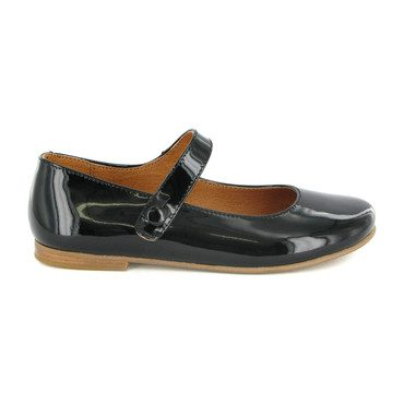 Patent Leather Mary Jane Ballerinas, Black
