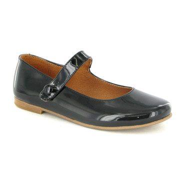 Patent Leather Mary Jane Ballerinas, Black