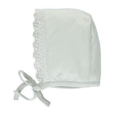 Organic Bebe Bonnet, Feather Grey