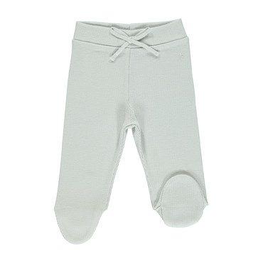 Organic Bebe Pants, Feather Grey