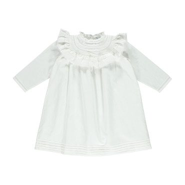 Organic Cristina Dress, Off-White