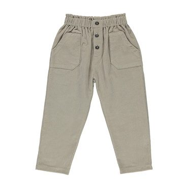 Organic Elis Pants, Simple Taupe