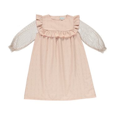Organic Gabriella Dress, Cameo Pink