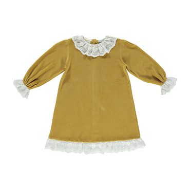 Organic Grace Dress, Caramel