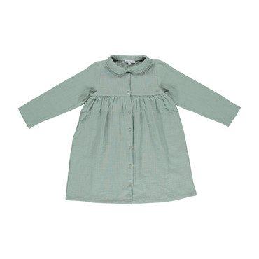 Organic Helena Dress, Slate Grey
